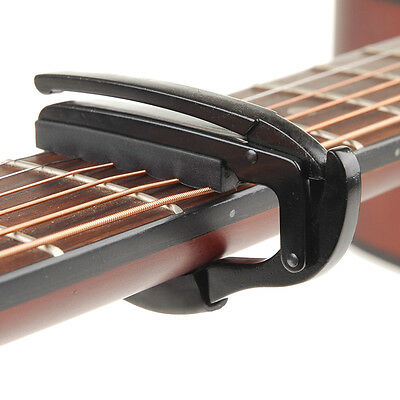 Black Quick Change Tune Clamp Key Capo for Acoustic Electric Guitar