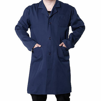 Lab Laboratory Warehouse Doctor Coat Medical Technician Safety Work Wear Blue