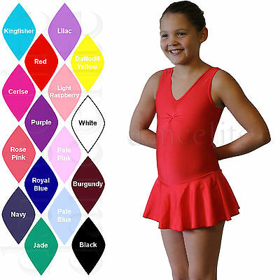 Girls Ladies Skirted Leotard With Skirt Ballet/dance/ice Skating/tap Dress