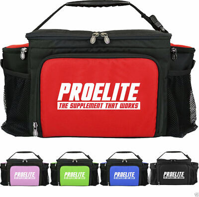 ProElite Insulated 6 Meal Food Bag with 6 x Containers + FREE Shaker + DELIVERY