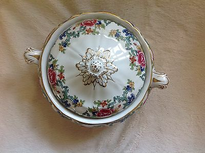 Beautiful Vintage Booths Floradora Two Handled Lidded Vegetable Tureen Lugged