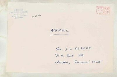 1965 Ferrari Chinetti USA ORIGINAL EMPTY Factory Envelope INCOMPLETE ww0546