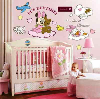 minnie maus disney wandtattoo wandsticker xxl 110cm x 80cm mickey mouse mq011 eur 14 90. Black Bedroom Furniture Sets. Home Design Ideas