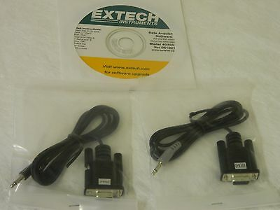 Extech 407001 Data Acquisition Software & Cable for Hygro Thermo-Anemometer