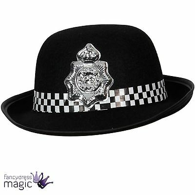 *WPC Policewoman Policeman Police Office Hat New York Cop Fancy Dress Accessory*