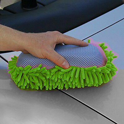 Microfibre Noodle Sponge, Double Sided, Tar Remover, Elasticated Holding Strap