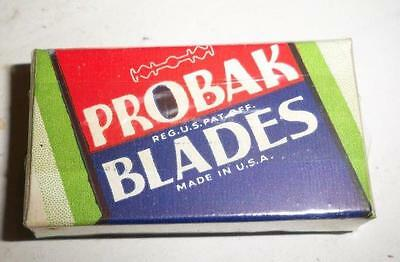 sealed box of 10 Probak Gillette double edge safety Razor Blades autostrop nos