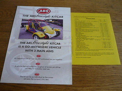 ABS GROUP 'FREESTYLE' MINI ENGINED KIT CAR  'BROCHURE'/SHEET 1990's?