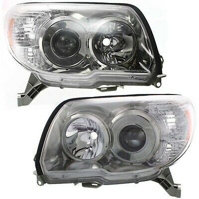 Headlights Headlamps Left & Right Pair Set for 06-09 4Runner w/ Sport Package