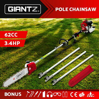 NEW 75cc Pole Chainsaw Brush Cutter Tree Hedge Pruner Petrol Brush Long Reach