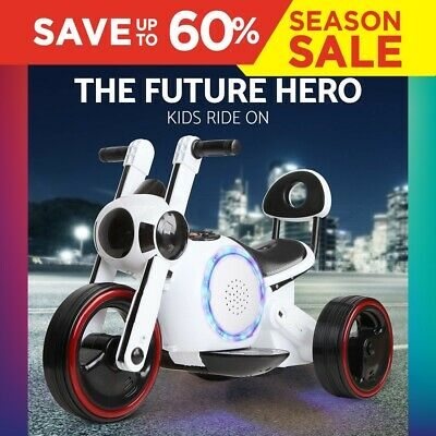 RIGO Kid Ride On Car Motorbike Motorcycle Electric Toy Baymax Style Bike Battery