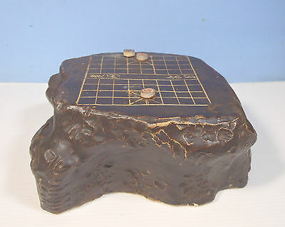 Antique Rare Chinese Ceramic Chess Table Calligraphy c early Century OOAK