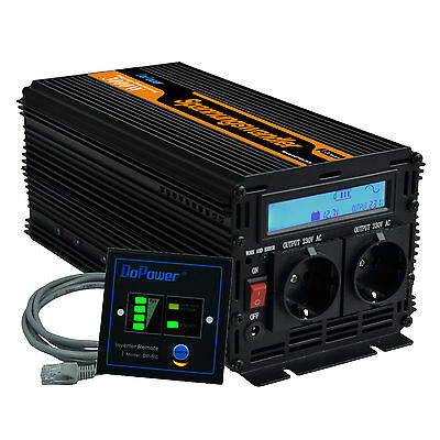 DC 12V to AC 220V 230V 3000W Peak 6000W  Power Inverter LCD Display Convertitore