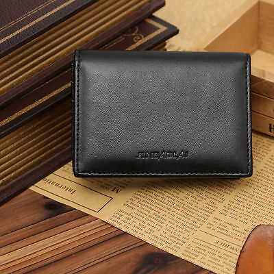 Men's ID Credit Card Holder Purse Leather Wallet Bifold Ultra Thin Money Clip
