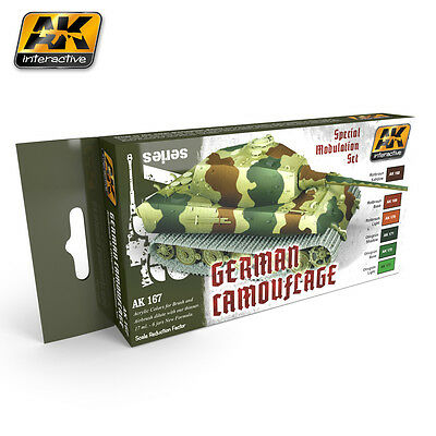 AK Interactive AK 167 German Camouflage Special Modulation Acrylic Paint Set