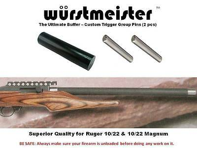 Custom Recoil Bolt Buffer + Trigger Group Pins (2) For Ruger 1022 - Best Quality