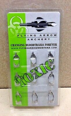 Flying Arrow 2013 Toxic Replacement Blades 100 Grain 9pk
