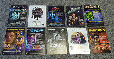 Collection of 10 BABYLON 5 ad pages