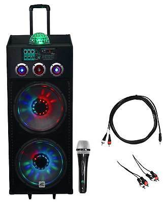 "NYC Acoustics Dual 15"" Karaoke Machine/System 4 ipad/iphone/Android/Laptop/TV"