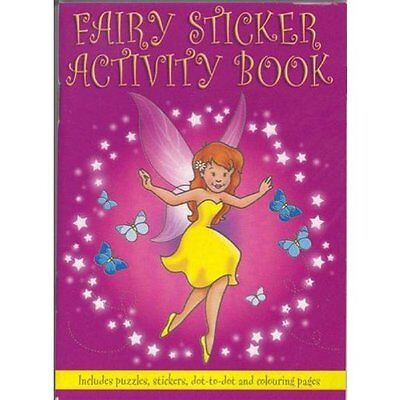 Small Fairy Sticker, Colouring & Puzzle Activity Book A6 size Party Treat