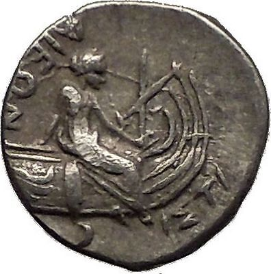 Histiaia in Euboia 300BC Nymph Galley Authentic Ancient Silver Greek Coin i57325