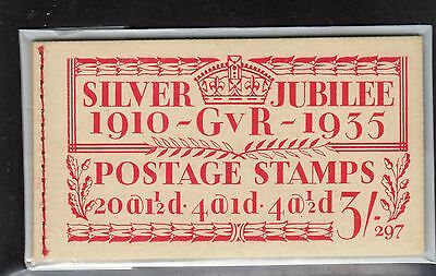 GB  BB28 GV George V 3/- Silver Jubilee Edition 297: Complete Booklet
