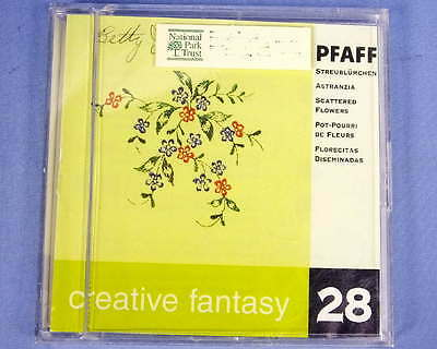 Pfaff Creative Fantasy Embroidery Card #28 Scattered Flowers 7560 7570 2140 2144