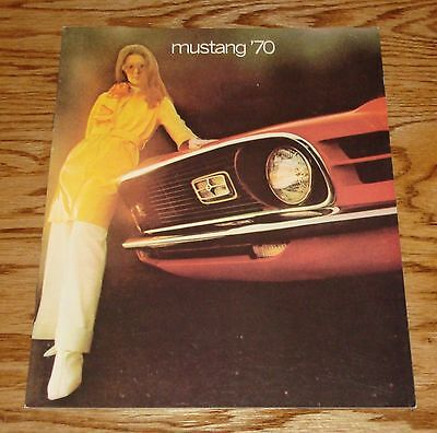 1970 Ford Mustang Sales Brochure 70 Boss 302 Mach 1
