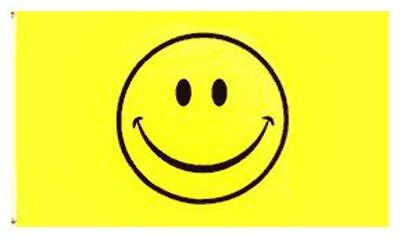 Smiley Smile Face yellow Happy Face Large Flag 5X3FT with Eyelets