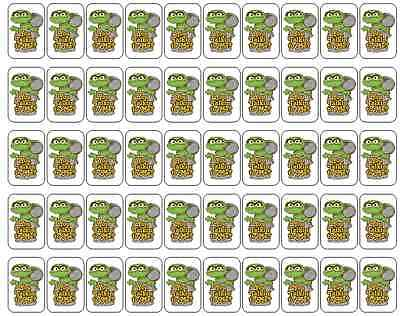 "50 Oscar The Grouch You Talkin To Me Envelope Seals Labels Stickers, 1"" by 1.5"""