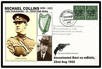 General Michael Collins, Irish Patriot Commemorative Card with 1922 Coin