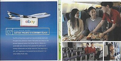 Cathay Pacific Airways Boeing 747-400 All Asia Pass The Trip Lifetime Brochure