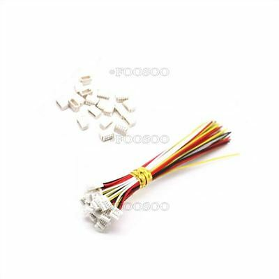 10 Sets Micro Jst Sh 1.0Mm 4-Pin Female Connector With Wire/Male Connector W