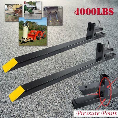 Clamp on 4000lbs Capacity Pallet Forks Loader Bucket Skidsteer Tractor Chain 60""
