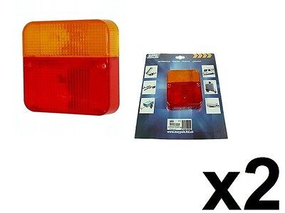 2 x SPARE REPLACEMENT REAR LIGHT LAMP LENS COVER TOWING TRAILER BOARD FOR MP003