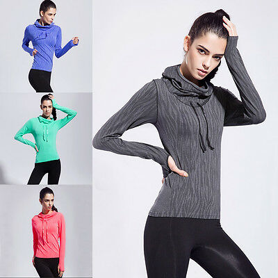 Woman Hooded Sweatshirt Workout Gym Fitness Sport Dri Fit Top Running Yoga Shirt