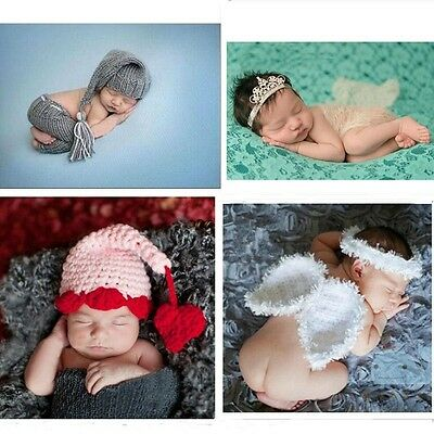 Newborn Baby Girls Boys Crochet Knit Costume Photo Photography Prop Outfit Cloth