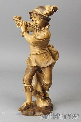 vintage young musikand , wooden figurine south tirol