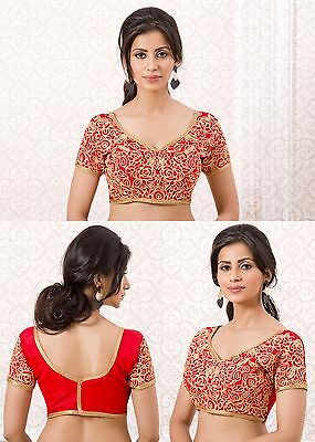 Designer Blouse Traditional Party Wear Women Crop Top Bollywood Choli Ready 4105