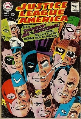 Justice League Of America #61 - VG/FN