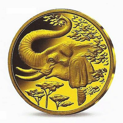 Somalia 2005 Elefant 200 Shillings Wildlife 0,62g. .999er Gold PP / proof RAR!