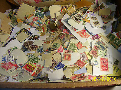 Unchecked & Unsearched 1/4 Pound Lot of Worldwide and United States Stamps