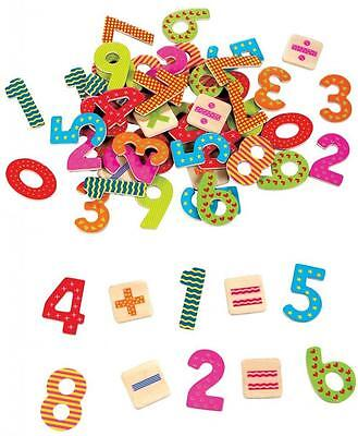 Box of Magnetic, Wooden Numbers & Maths Symbols 60 pieces in total from 3 years