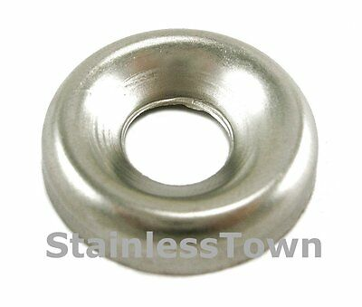 Stainless Steel Finishing/Cup Washers #8 (Pack of 100)