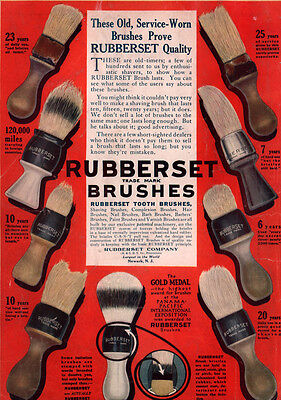 Ad Lot Of 5 Early Ads Rubberset Shaving Brushes Doughboys Devil Dogs Vatet Axe