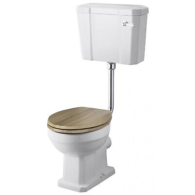 Premier Carlton Low Level Toilet Lever Cistern Excluding Seat CP Flushpipe