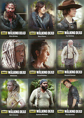 Walking Dead Season 4 Part 1 ~CHARACTERS/POSTERS/TERMINUS Insert Sets (22 cards)