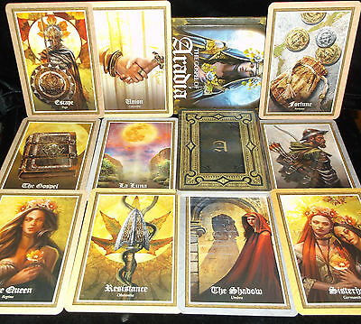 Brand New! Gospel Of Aradia Card & Book Oracle Wiccan Mythology Open For Pics