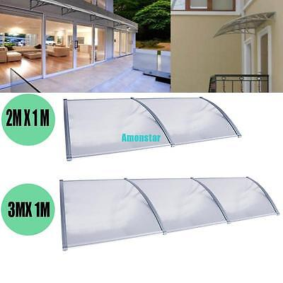 3m/2m x 1m Window Door Outdoor Awning Canopy Patio UV Rain Cover Sun Shield