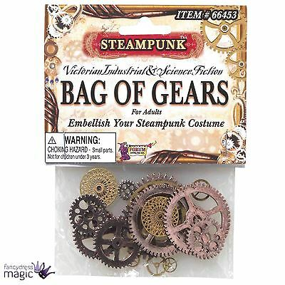 *Victorian Steampunk Bag of Gears Embellishments Fancy Dress Costume Accessory*